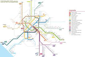 Rome Italy Map Rome Map Metro Subway Tube Underground Stations Visitor