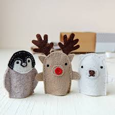 make your own christmas finger puppets craft kit by clara and macy
