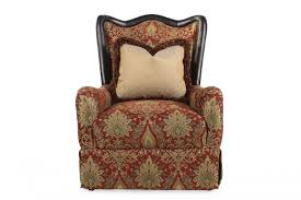 Printed Accent Chair Tapestry Printed Accent Chair In Red Mathis Brothers Furniture