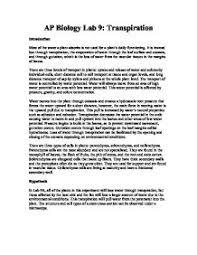 Lab Bench Transpiration Barry Whitney Resume Data Analysis Sample Thesis Dissertation