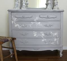 chalk paint and cherry blossoms u2013 a dresser makeover in the