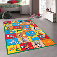 Baby Area Rug Zoomie Kids Angelique Learn Abc Alphabet Letters With Animals
