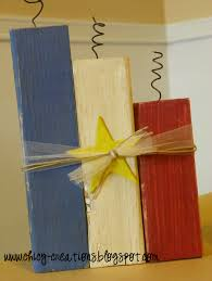 Chicy Creations 4th Of July Wood Crafts Flag And Fireworks