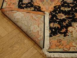 Black Persian Rug 3 U0027 X 13 U0027 Black Tabriz Runner Silk U0026wool Persian Rug Hand Knotted