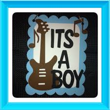 Rock And Roll Party Decorations Rock N Roll Theme Its A Boy Baby Shower Door Sign Rock And