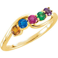 gold mothers rings 14k gold 1 to 5 stones s ring