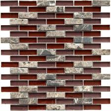 Glass Tile For Kitchen Backsplash Kitchen Live Up Your Kitchen By Installing Red Glass Tile