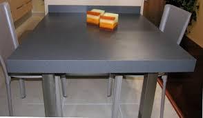 table de cuisine avec plan de travail cuisine avec lot central 43 id es inspirations plan de travail