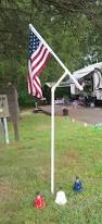 Flag Post Holder Pvc Flag Pole Holder Happy Trails With Our Trailer Pinterest