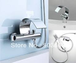 Double Handle Shower Faucet Double Handle Chrome Wall Mounted Bath Faucet Bathroom Basin
