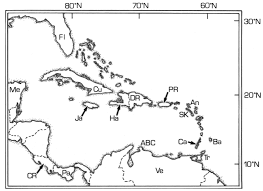 Map Of Caribbean Countries by Scripta Geologica