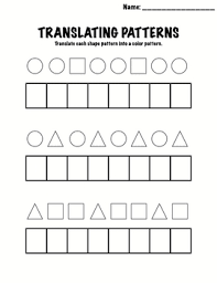 patterns in kindergarten kindergarten math patterns translating patterns by meyers