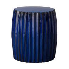 blue garden stool small lattice blue glaze ceramic garden stool