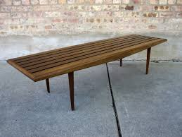 circa midcentury u0027danish modern u0027 slat bench coffee table want