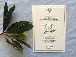 dove wedding invitations sample framed monogram wedding invitation featuring simple border