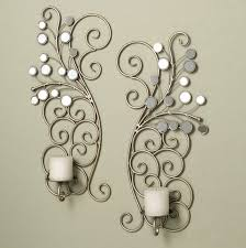 Mirror With Candle Sconces Endearing 50 Mirrored Wall Sconce Candle Holder Design Ideas Of