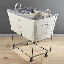 Commercial Laundry Hamper by Wooden Rolling Laundry Basket Cart U2014 Sierra Laundry Knowing