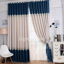 Blue And Beige Curtains Blackout Living Room Blue And Beige Curtains