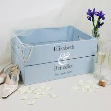 wedding gifts elizabeth personalised wedding gift crate with ersand by plantabox