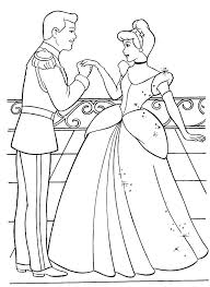 cinderella princess colouring pages free printable coloring