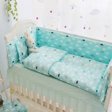 Crib Bedding Green Green Clouds 4 10 Pcs Boys Baby Bedding Set Cot Sets 120