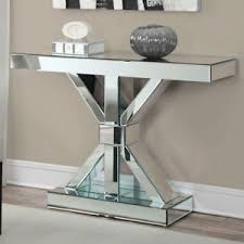 Mirrored Console Table Coaster Company 950191 Thick Mirrored Console Table Ebay