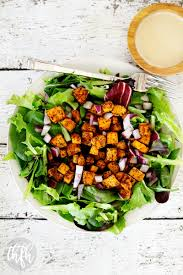 roasted chipotle sweet potato salad with tahini lime dressing