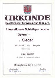 Sch Ler K Hen Ssg Teutoburger Wald E V Urkunden