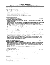 Best Resume Set Up by Resume Maintenance Supervisor Resume For Your Job Application