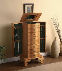 jewelry armoire oak finish 10 best jewelry armoires images on pinterest jewelry armoire
