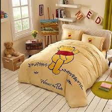Classic Winnie The Pooh Nursery Decor Bedding Yellow Winnie Pooh Classic Bedding In The Grass Winnie Pooh Bed In