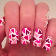 playful polishes mosaic valentine u0027s day nail art