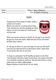 primaryleap co uk teeth worksheet