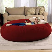 home theater bean bag chairs amazon com jaxx 6 foot cocoon large bean bag chair for adults
