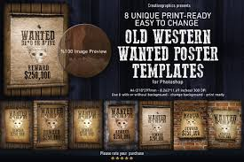 old western wanted poster templates templates creative market