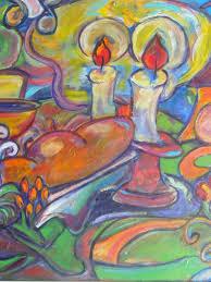 shabbat candles jewish art print judaica art for the home
