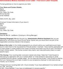 cover letter for medical administrative assistant position