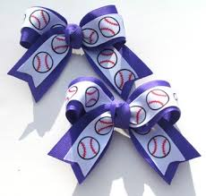 softball hair bows sport baseball softball set or single hair bow