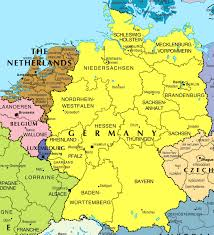 germany europe map large political and administrative map of germany and netherlands