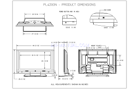 how to read dimensions product dimensions for televisions hp pl4200n 42 inch plasma hdtv
