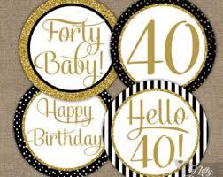 40th birthday decorations 60th birthday cupcake toppers 60th birthday party decorations