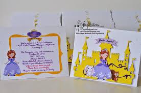 jingvitations handmade princess sofia the first inspired