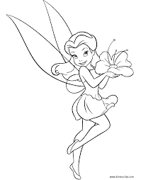 rosetta garden fairy coloring pages