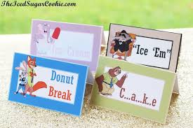 Make Own Cards Free - zootopia birthday party food label cards free printable template