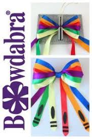 back to school hair bows how to make a crayon inspired back to school hair bow school