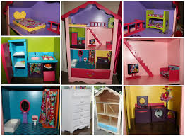 Barbie Dolls House Furniture Barbie Doll House I Made From A Dresser Everything Is Homemade
