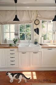 gardine küche die besten 25 vorhänge landhausstil ideen auf shabby