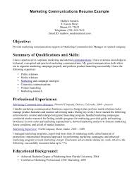 Sample Resume Objectives Marketing by 100 Market Research Resume Objective Sample Resume Business