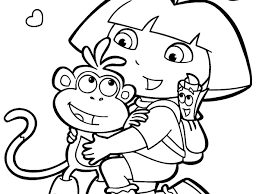 nick jr dora coloring pages funycoloring