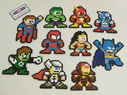 super hero perler bead christmas ornament nintendo dc comics